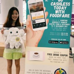 [Foodfare] Download Foodfare app ✅ Top up ✅  Cashless payment @ Kampung Admiralty Hawker Centre ✅ Spin the Wheel ✅Valerie won herself a Craftholic toy