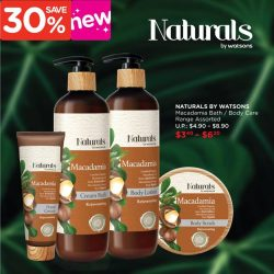 [Watsons Singapore] Pamper yourself with double the power of Macadamia from Naturals by Watsons!