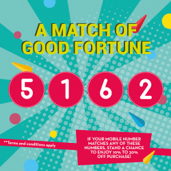 [Nanyang Optical] Festival SpecialIf your mobile matches 1 or more of our lucky numbers, stand a chance to enjoy up to