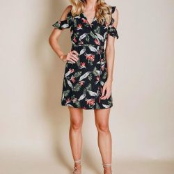 [Mico Boutique] Loving the new Harmony Wrap Dress, the perfect dress for your work party or Christmas Day!