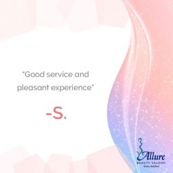 [Allure Beauty Saloon] If you have not tried service with Allure, why not book your appointment with us during this holiday season!