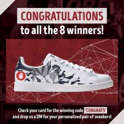 [4 Fingers Crispy Chicken] Congratulations to all the 8 winners of our Limited Edition 4Fingers Adidas Stan Smith!
