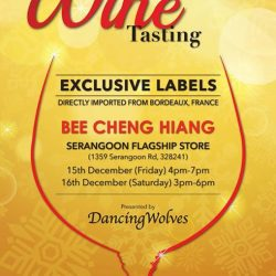 [Bee Cheng Hiang Singapore] Wine Enthusiasts, lookout!