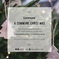 [Commune] There's no better way to get into the festive spirit of giving than with Commune's Christmas specials.