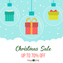 [Natural Living] Come celebrate with us this Christmas season with up to 70% discount on selected items.