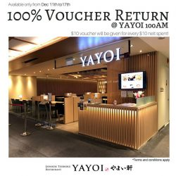 [YAYOI Japanese Teishoku Restaurant] What if we told you that you can get 100% return on your spending?