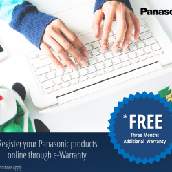 [Panasonic] Sweeten up the Panasonic gifts you received this Christmas by availing an additional three months warranty for FREE.