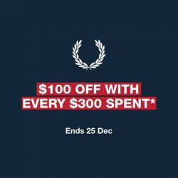 [Fred Perry] Shopping privileges this festive season, now till 25 Dec at our Authentic Shops at Bugis Junction, Cathay Cineleisure Orchard, ION