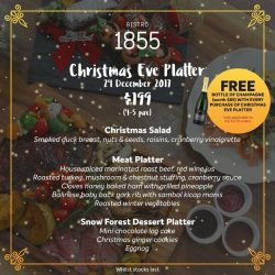 [Bistro 1855] Looking for a place to Celebrate this Christmas and New Year?