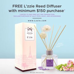 [L'zzie] Relax and unwind with lovely floral scent~ ✨✨ Receive one FREE Exclusive L'zzie Reed Diffuser in Lavender scent