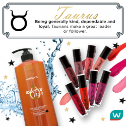 [Watsons Singapore] Being generally kind, dependable and loyal, Taurus makes a great leader or follower.
