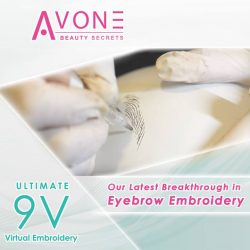 [Jean Yip Hub] To demonstrate how gentle yet powerful this revolutionary 9V Ultimate Virtual Brows Embroidery is; we have it done on a