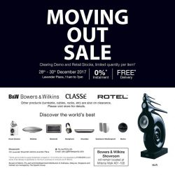 [B&W Bowers & Wilkins] Bowers & Wilkins Showroom at Lavender Street will be moving out.