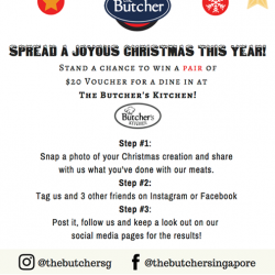 [The Butcher] Spread a Joyous Christmas This Year!