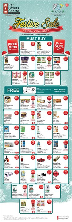 [Pet Lovers Centre Singapore] Here's a reminder of your must-buys in our Christmas member exclusive deals!