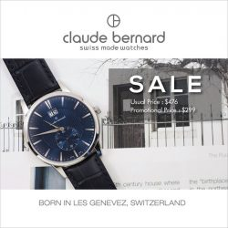 [Claude Bernard] It's your last chance to get your hands on a Claude Bernard hand assembled Swiss Made timepiece at a