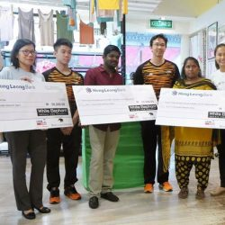 [BritishIndia] Handing over the cheques to the beneficiaries from WhiteElephantRetailForCharity sales as well as proceeds from the AthletesForCharity fashion show at