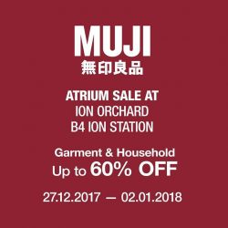 [MUJI Singapore] 3 more days to the end of MUJI Atrium Sale at ION Orchard!