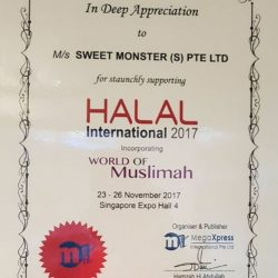 [Sweet Monster Singapore] Received this certificate of participation from MegaXpress International Pte Ltd.