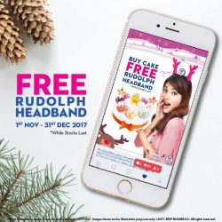[Baskin Robbins] Swing by to get Free Rudolph headband with your favourite cake purchase.