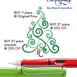 [LAMY Singapore] This Chirtsmas, the more you buy, the more you save.