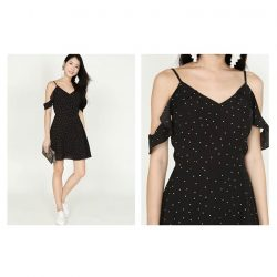 [MDSCollections] Freesia Cami Dress In Black | Polka Dots, the playfulness | Upcoming launch