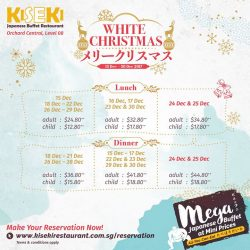 [Kiseki Japanese Buffet Restaurant] Gather your friends and family as we celebrate the most wonderful time of the year with a delectable selection of