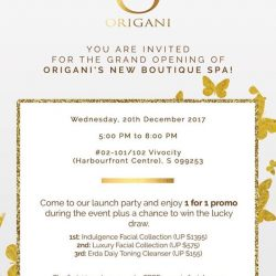 [Organi] You are all invited to the GRAND OPENING of ORIGANI's NEW BOUTIQUE SPA!