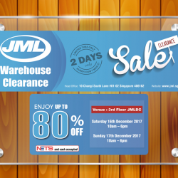 [JML] JML 2 DAYS WAREHOUSE SALE starts tomorrow and this never happened before!