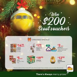 [7-Eleven Singapore] Pick up one of our Christmas specials this holiday season and get a chance to win $200 FlyScoot vouchers!
