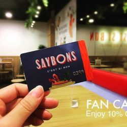 [SAYBONS - by French Food Factory] Introducing Saybons Fan Loyalty Card 💳 which will entitle the bearer to 10% discount off a-la carte menu items, storewide.