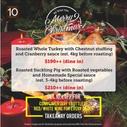 [DISTRICT 10 BAR TAPAS RESTAURANT] With Christmas and the year end coming, festive goodies are meant to be shared.