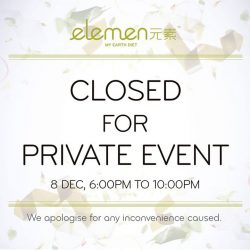 [Jace & Co Fine Jewellery] Dear customers, we would like to inform you that Millenia Walk outlet will be closed for a private function during