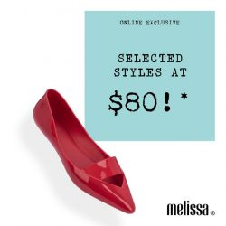 [Melissa] It can't get merrier than selected styles at $80*!
