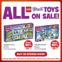 [Babies'R'Us] Last chance to get great savings on LEGO CITY and LEGO FRIENDS!