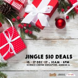 [Elements @ Play by Science Centre Singapore] Head down to ScienceCentreSG from 15-17 Dec for your last minute Christmas shopping to enjoy $10 deals and make