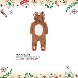 [Mothercare] Complete your little one's Christmas wardrobe with these adorable all-in-one dress-up.