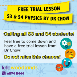 [Kent Ridge Education Hub] FREE TRIAL LESSON for S3 & S4 Physics Dear S3 and S4 students, please feel free to come down and get