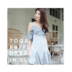 [MDSCollections] Aren't you a best sellers, on sale items | Toga Ruffle Dress In Blue