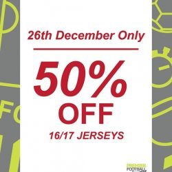 [Premier Football Singapore] 50% OFF all 16/17 Jerseys!