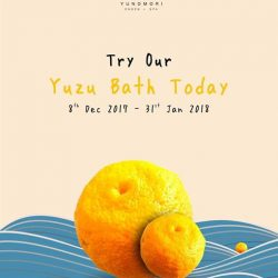 [Yunomori Onsen and Spa] They say an apple a day may keep the doctor away but the yuzu fruit has a lot more to