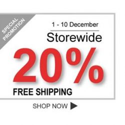 [PONEY enfants] Shop your kid's favourite apparels with Storewide 20% + FREE SHIPPING from 1st - 10th December!