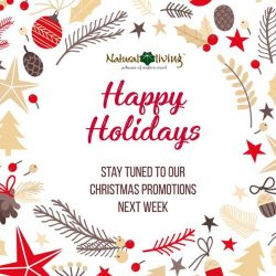 [Natural Living] Today marks the start of the month of Christmas, here's wishing you happy holidays!