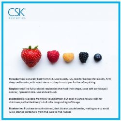 [CSK® Aesthetics] Anti Aging Skin-Care Tips 101 Berries Did you know that Berries are packed with antioxidants which help neutralize free