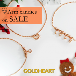 [Goldheart Jewelry Singapore] Glam up with your gals this Xmas.