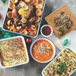 [The Soup Spoon] Peace Festive Set   This set debuts our Spinach Pumpkin Lasagna and Meatballs in Wild Mushroom Sauce for a surprise spin