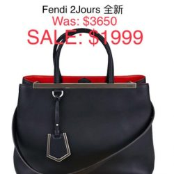 [Luxury City] Fendi 2Jours brand new - S$1,9991.