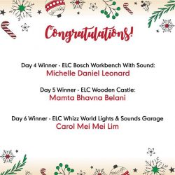 [Mothercare] Congratulations to our Day 1 to 6 winners 12daysofChristmas sharethegift promo!