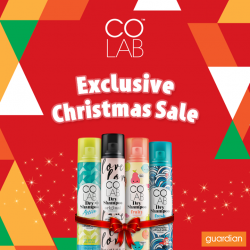 [Guardian] From now till 27 December 2017, you can enjoy 20% off COLAB Dry Shampoo!