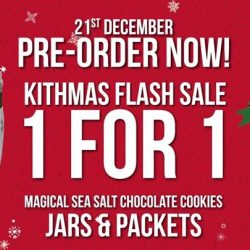 [Millenia Walk] For today only, get Kith Café's Magical Sea Salt Chocolate Cookies, 1-for-1, at Kith's Christmas!